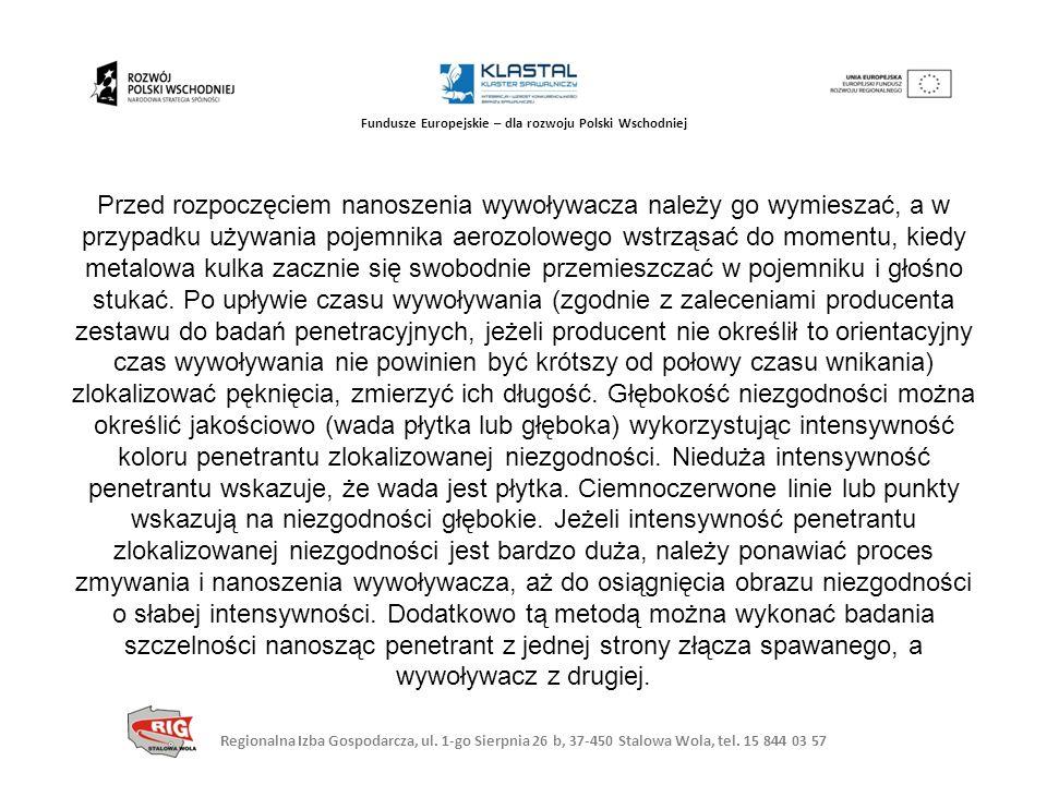 Regionalna Izba Gospodarcza, ul. 1-go Sierpnia 26 b, 37-450 Stalowa Wola, tel. 15 844 03 57 Fundusze Europejskie – dla rozwoju Polski Wschodniej Przed