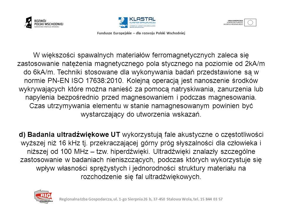 Regionalna Izba Gospodarcza, ul. 1-go Sierpnia 26 b, 37-450 Stalowa Wola, tel. 15 844 03 57 Fundusze Europejskie – dla rozwoju Polski Wschodniej W wię