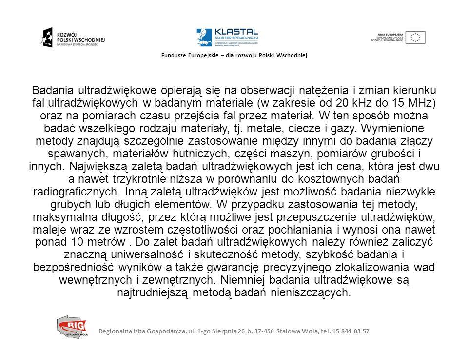 Regionalna Izba Gospodarcza, ul. 1-go Sierpnia 26 b, 37-450 Stalowa Wola, tel. 15 844 03 57 Fundusze Europejskie – dla rozwoju Polski Wschodniej Badan