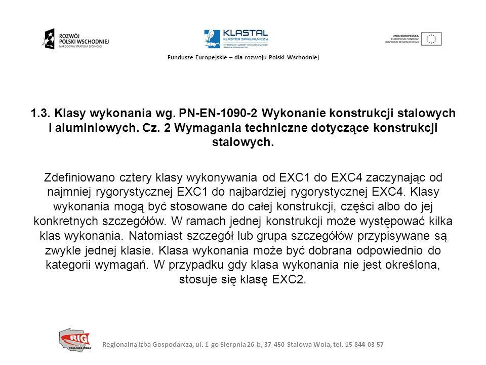 Regionalna Izba Gospodarcza, ul. 1-go Sierpnia 26 b, 37-450 Stalowa Wola, tel. 15 844 03 57 Fundusze Europejskie – dla rozwoju Polski Wschodniej 1.3.