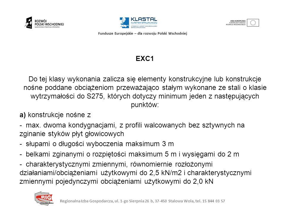 Regionalna Izba Gospodarcza, ul. 1-go Sierpnia 26 b, 37-450 Stalowa Wola, tel. 15 844 03 57 Fundusze Europejskie – dla rozwoju Polski Wschodniej EXC1