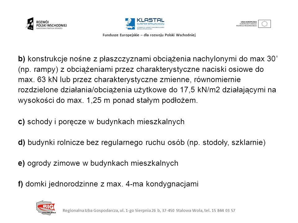 Regionalna Izba Gospodarcza, ul. 1-go Sierpnia 26 b, 37-450 Stalowa Wola, tel. 15 844 03 57 Fundusze Europejskie – dla rozwoju Polski Wschodniej b) ko