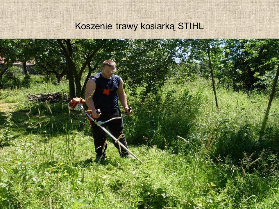 Koszenie trawy kosiarką STIHL