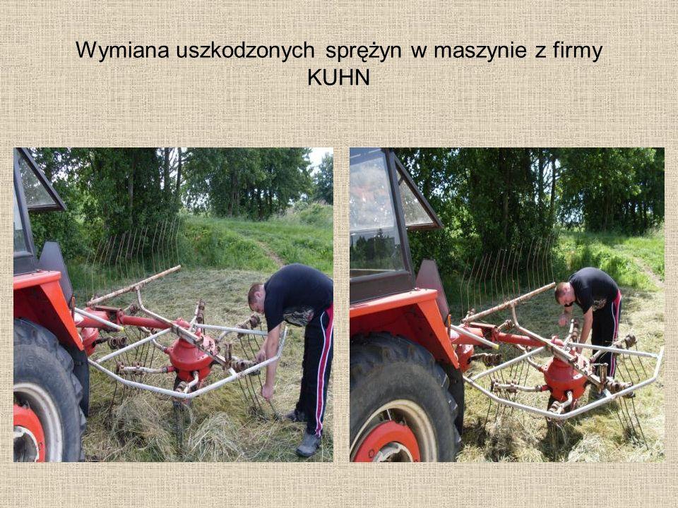 Wymiana uszkodzonych sprężyn w maszynie z firmy KUHN