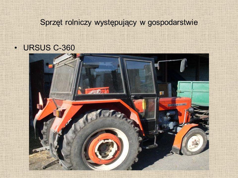 Sprzęt rolniczy występujący w gospodarstwie URSUS C-360