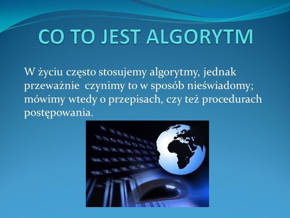 Algorytmy można przedstawić w różnej formie w zależności od problemu, który chcemy rozwiązać.