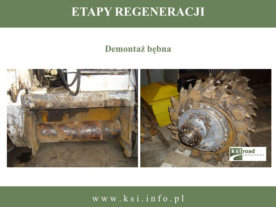 ETAPY REGENERACJI Demontaż bębna w w w. k s i. i n f o. p l