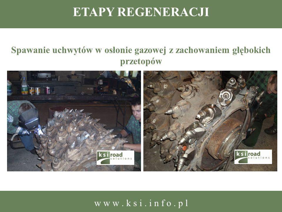 ETAPY REGENERACJI Spawanie uchwytów w osłonie gazowej z zachowaniem głębokich przetopów w w w. k s i. i n f o. p l