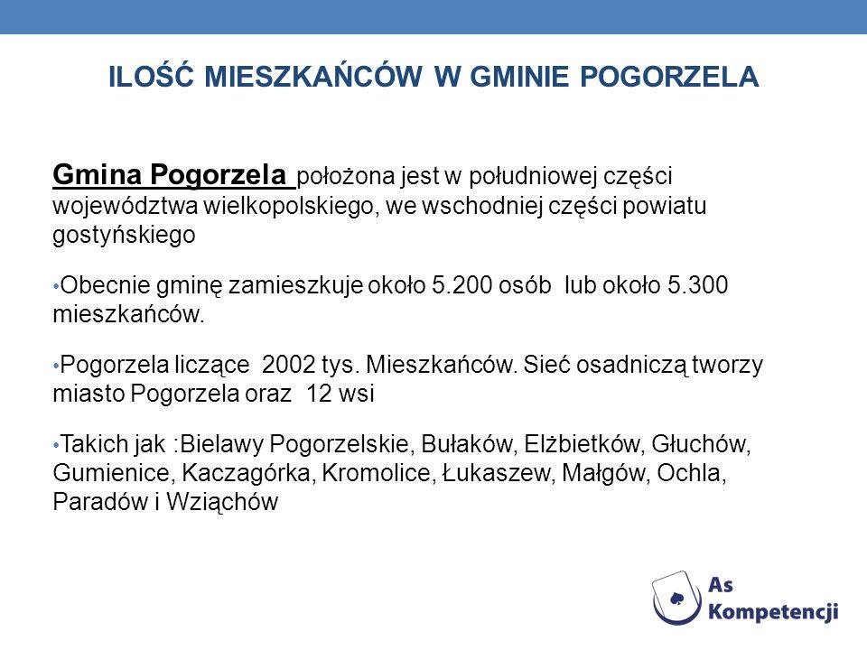 Gmina Pogorzela położona jest w południowej części województwa wielkopolskiego, we wschodniej części powiatu gostyńskiego Obecnie gminę zamieszkuje ok