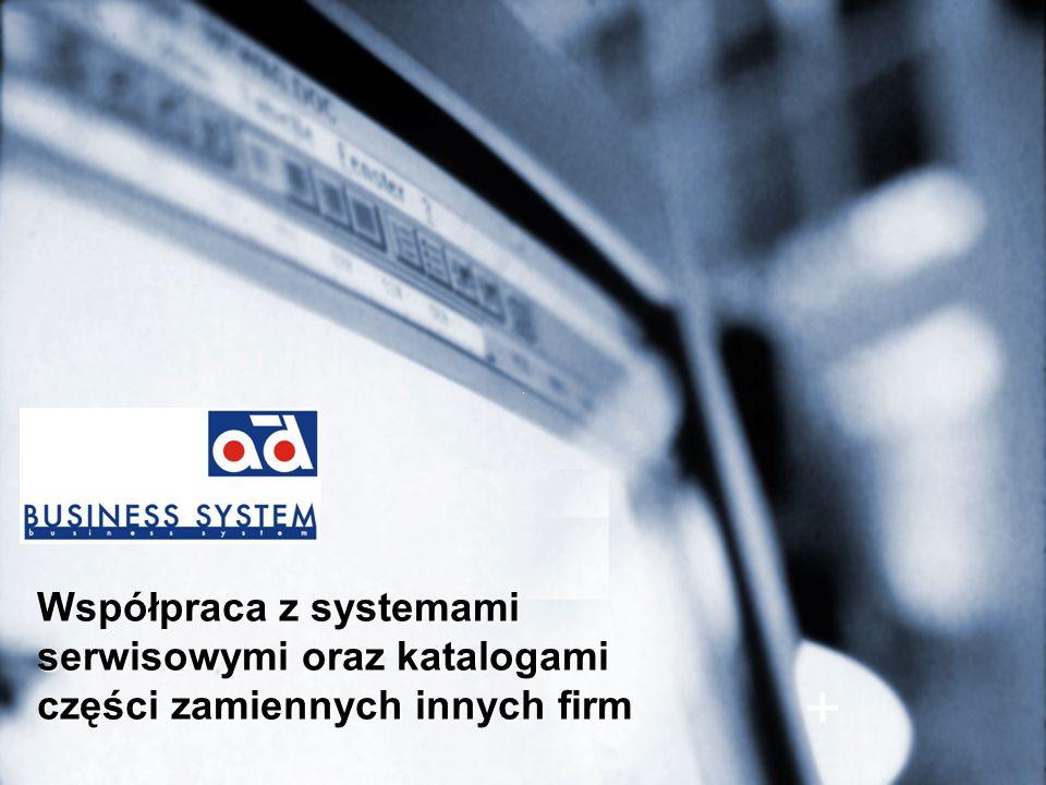 Współpraca z systemami serwisowymi oraz katalogami części zamiennych innych firm +