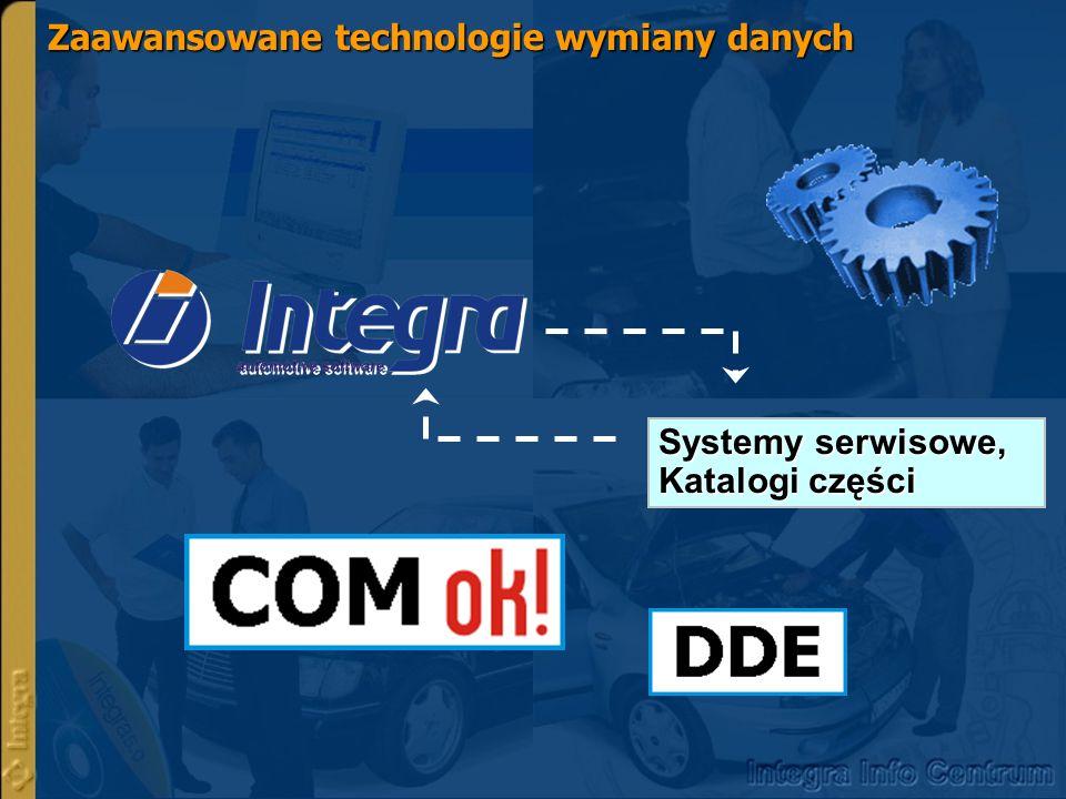 Zaawansowane technologie wymiany danych Systemy serwisowe, Katalogi części