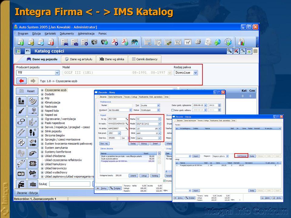 Integra Firma IMS Katalog