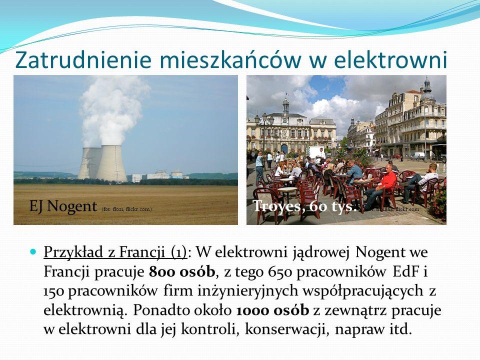 Zatrudnienie mieszkańców w elektrowni EJ Nogent (fot. flo21, flickr.com) Troyes, 60 tys. (fot. smilla4, flickr.com Przykład z Francji (1): W elektrown