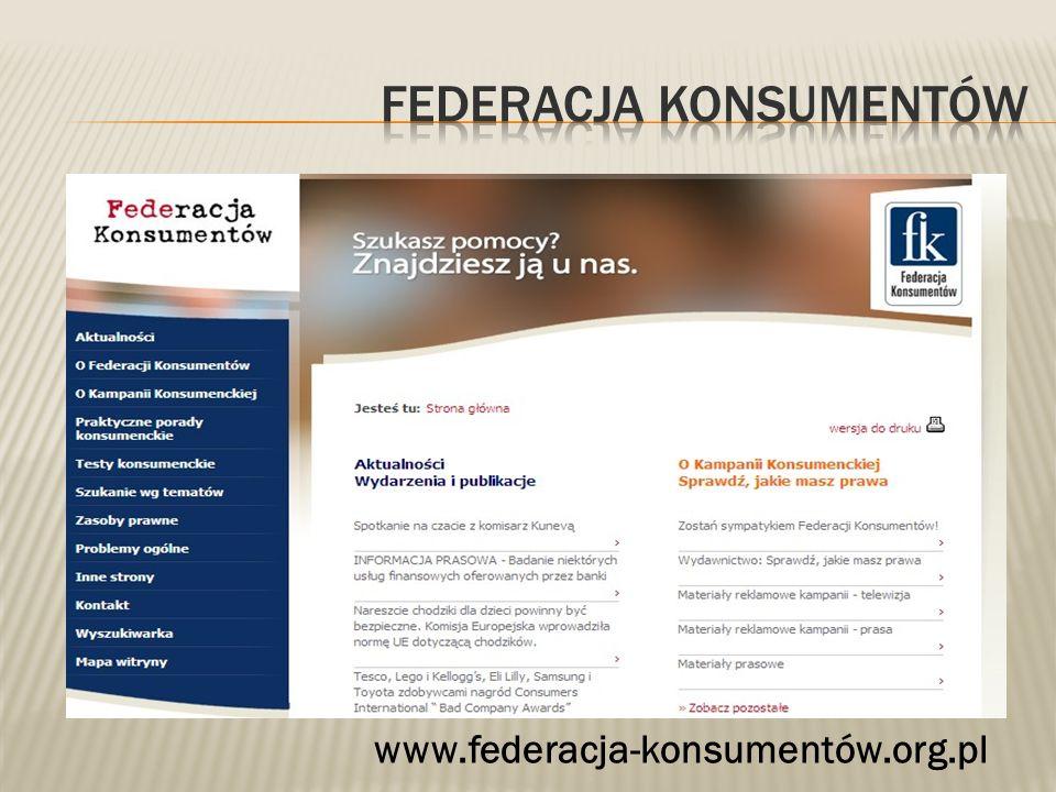 www.federacja-konsumentów.org.pl