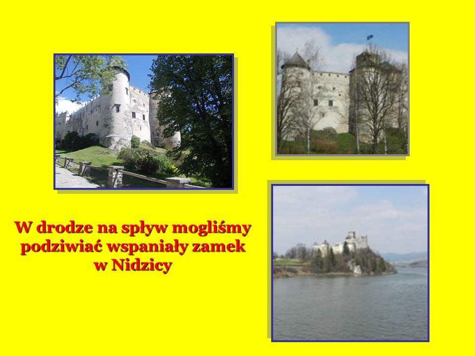 W drodze na spływ mogliśmy podziwiać wspaniały zamek w Nidzicy