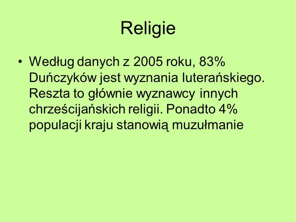 Religie Według danych z 2005 roku, 83% Duńczyków jest wyznania luterańskiego. Reszta to głównie wyznawcy innych chrześcijańskich religii. Ponadto 4% p