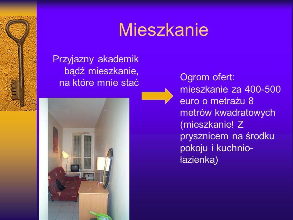 Mieszkanie Przyjazny akademik bądź mieszkanie, na które mnie stać Ogrom ofert: mieszkanie za 400-500 euro o metrażu 8 metrów kwadratowych (mieszkanie!