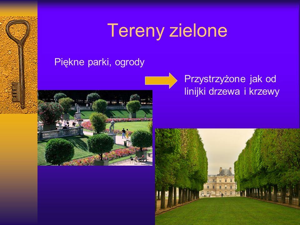 Tereny zielone Piękne parki, ogrody Przystrzyżone jak od linijki drzewa i krzewy