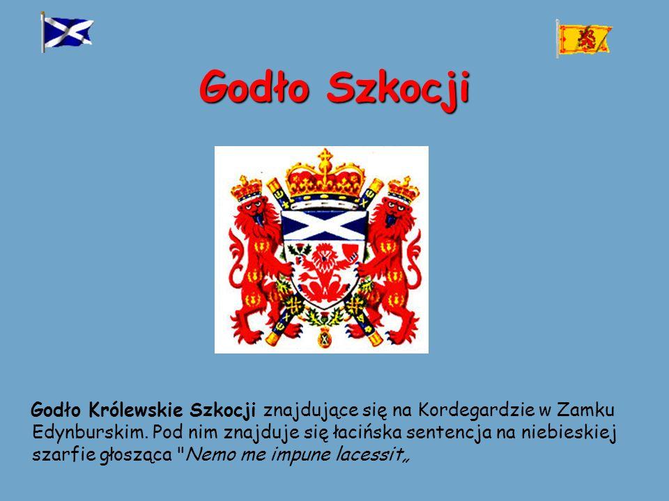 Godło Szkocji Godło Królewskie Szkocji znajdujące się na Kordegardzie w Zamku Edynburskim.