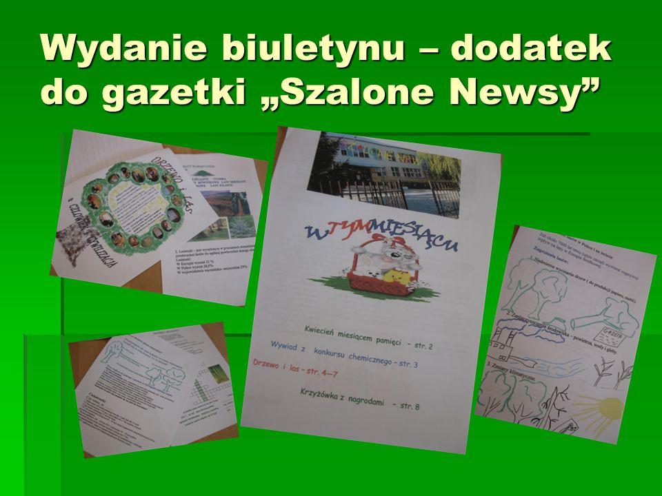 Wydanie biuletynu – dodatek do gazetki Szalone Newsy