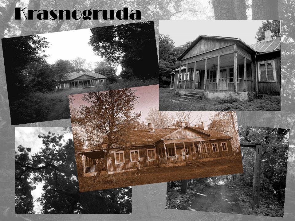 Historię dworu i majątku w Krasnogrudzie można znaleźć tutaj… Zacytuj ę fragment (J.