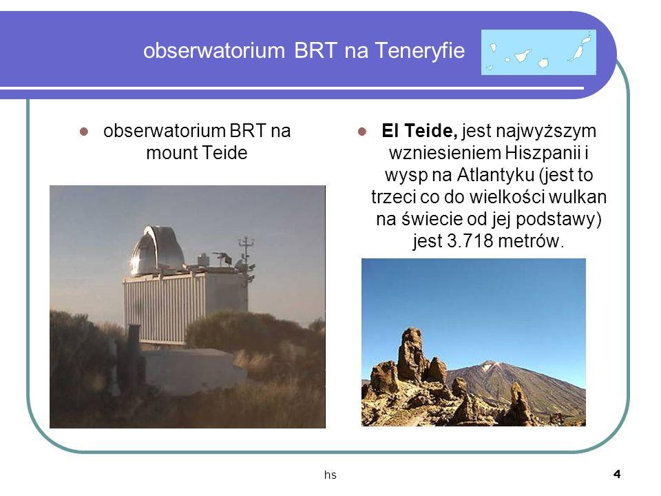 hs 4 obserwatorium BRT na Teneryfie obserwatorium BRT na mount Teide El Teide, jest najwyższym wzniesieniem Hiszpanii i wysp na Atlantyku (jest to trz