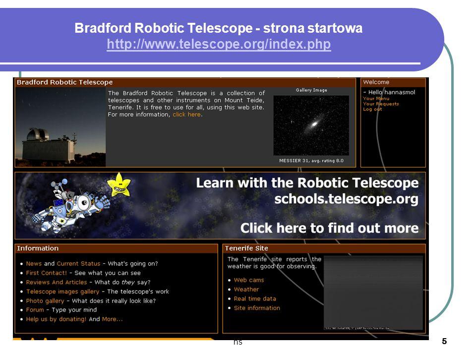 hs 5 Bradford Robotic Telescope - strona startowa http://www.telescope.org/index.php http://www.telescope.org/index.php