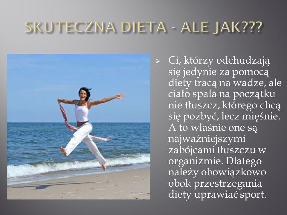 Ci, którzy odchudzają się jedynie za pomocą diety tracą na wadze, ale ciało spala na początku nie tłuszcz, którego chcą się pozbyć, lecz mięśnie. A to