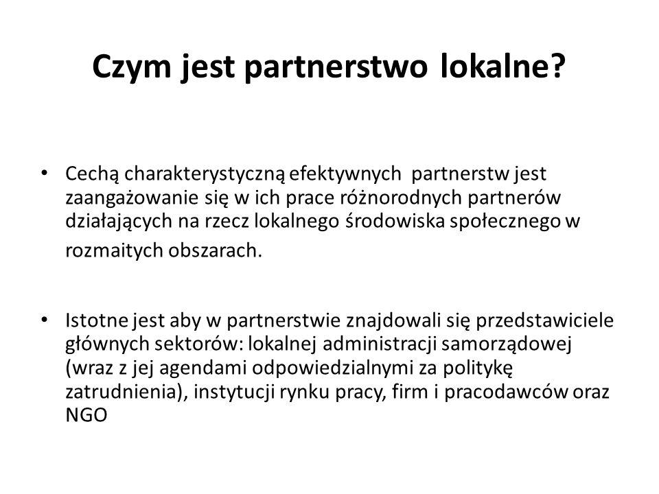 Cechą charakterystyczną efektywnych partnerstw jest zaangażowanie się w ich prace różnorodnych partnerów działających na rzecz lokalnego środowiska sp