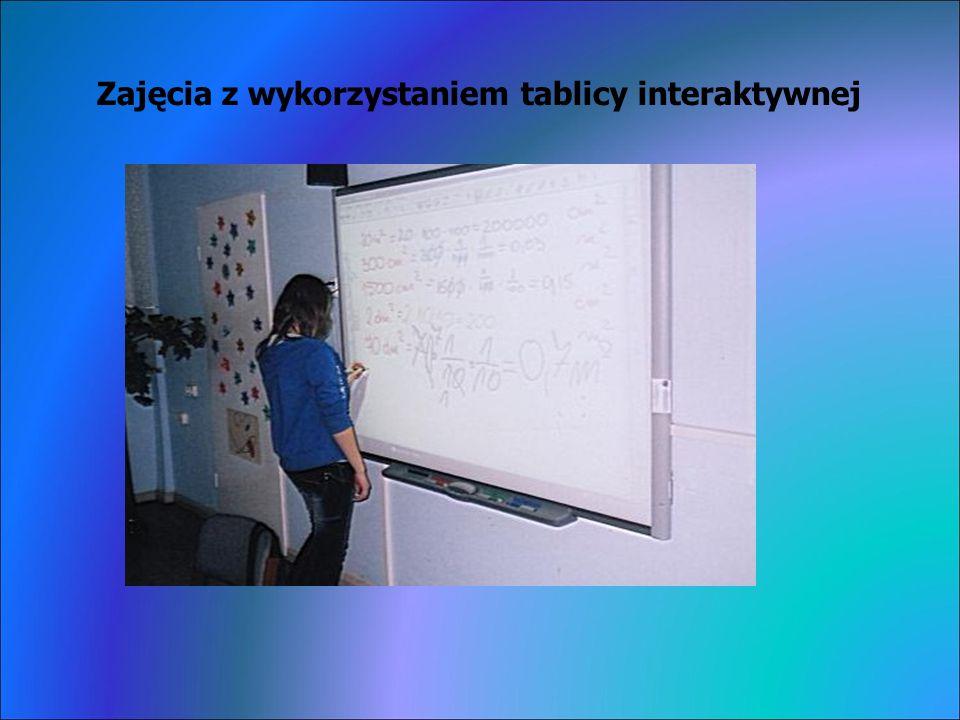 Zajęcia z wykorzystaniem tablicy interaktywnej