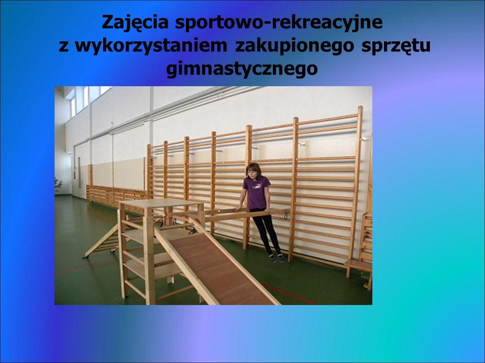 Zajęcia sportowo-rekreacyjne z wykorzystaniem zakupionego sprzętu gimnastycznego