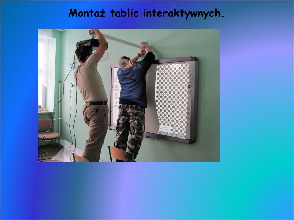 Montaż tablic interaktywnych.