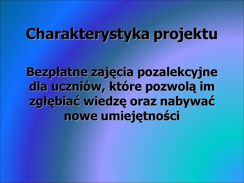 Celem projektu jest z zmniejszenie dysproporcji w osiągnięciach edukacyjnych uczniów uczęszczających do szkół z terenu Gminy Smyków w stosunku do osiągnięć uczniów z województwa świętokrzyskiego.