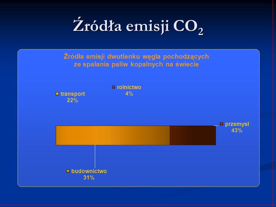 Źródła emisji CO 2