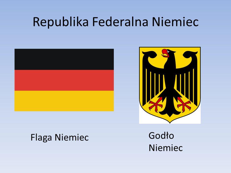 Republika Federalna Niemiec Flaga Niemiec Godło Niemiec