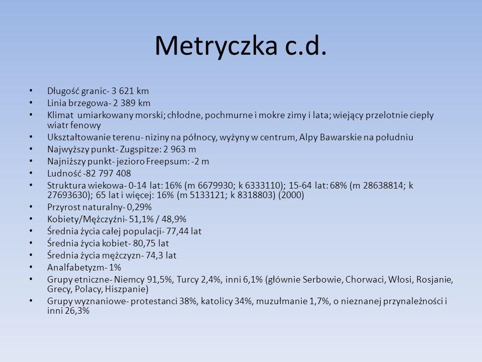 Metryczka c.d.