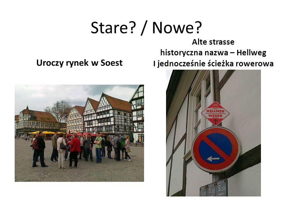 Stare? / Nowe? Uroczy rynek w Soest Alte strasse historyczna nazwa – Hellweg I jednocześnie ścieżka rowerowa