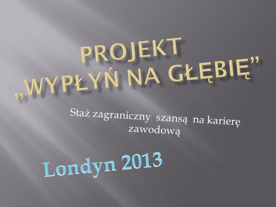 Przed wyjazdem i rozpoczęciem stażu w Wielkiej Brytanii każdy z uczestników projektu musiał odbyć szkolenie językowo –kulturowo - pedagogiczne, które trwało od grudnia 2012 roku do początku marca 2013 roku.