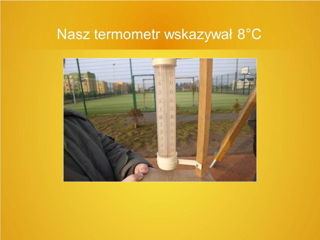 Nasz termometr wskazywał 8°C