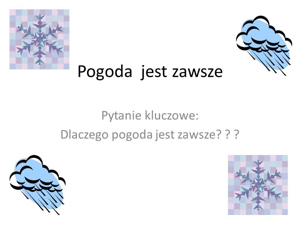 Pogoda jest zawsze Pytanie kluczowe: Dlaczego pogoda jest zawsze? ? ?