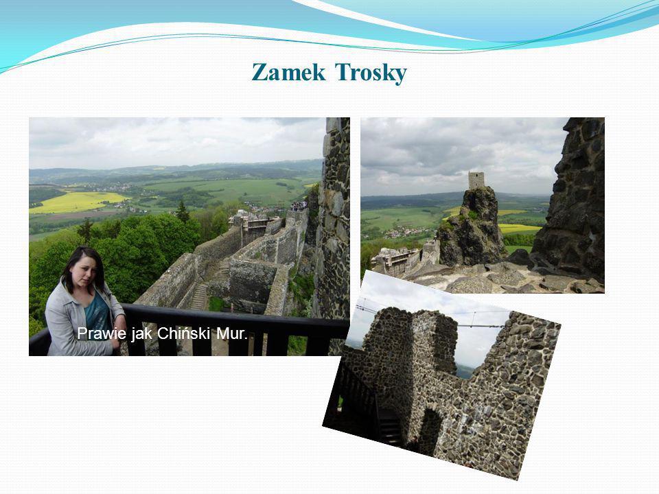 Zamek Trosky Prawie jak Chiński Mur.