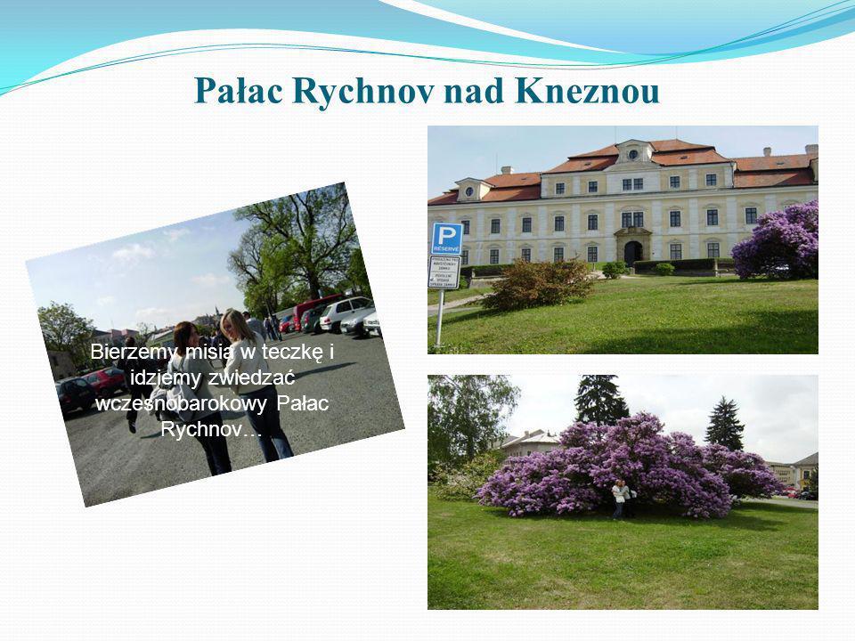 Pałac Rychnov nad Kneznou Bierzemy misia w teczkę i idziemy zwiedzać wczesnobarokowy Pałac Rychnov…