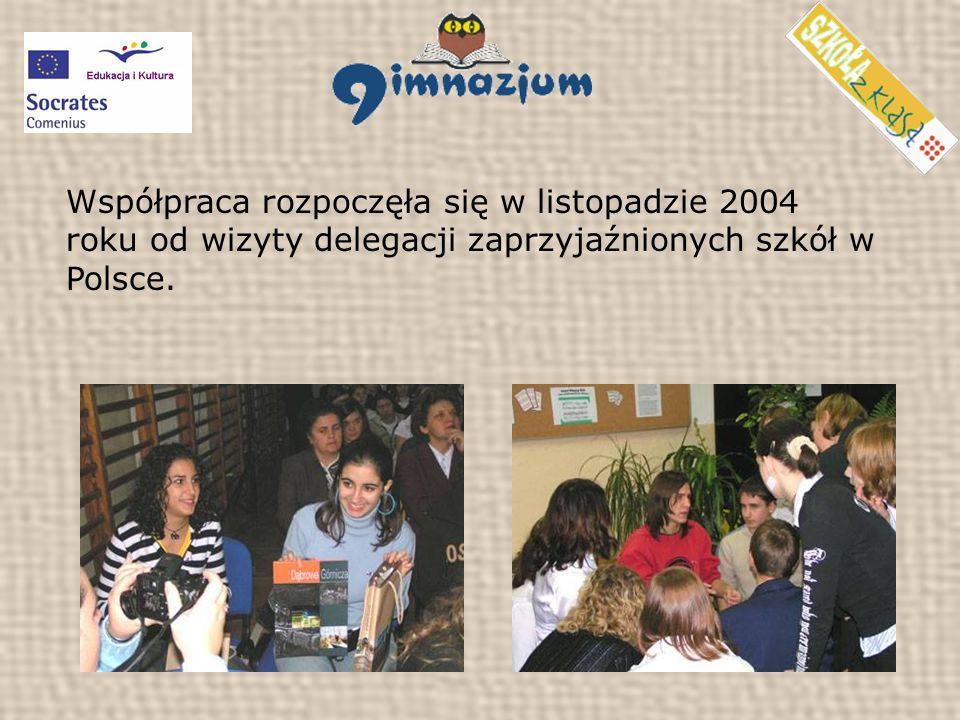 Współpraca rozpoczęła się w listopadzie 2004 roku od wizyty delegacji zaprzyjaźnionych szkół w Polsce.