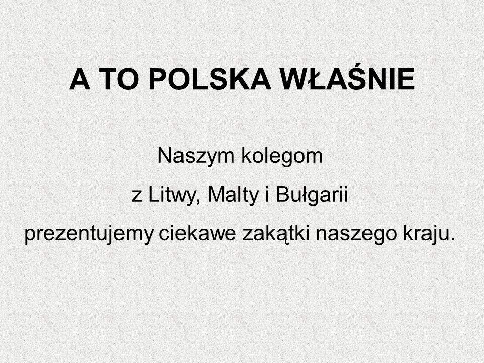 A TO POLSKA WŁAŚNIE Naszym kolegom z Litwy, Malty i Bułgarii prezentujemy ciekawe zakątki naszego kraju.