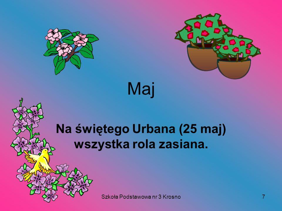 Szkoła Podstawowa nr 3 Krosno7 Maj Na świętego Urbana (25 maj) wszystka rola zasiana.