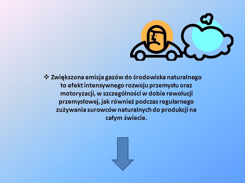 Zwiększona emisja gazów do środowiska naturalnego to efekt intensywnego rozwoju przemysłu oraz motoryzacji, w szczególności w dobie rewolucji przemysł