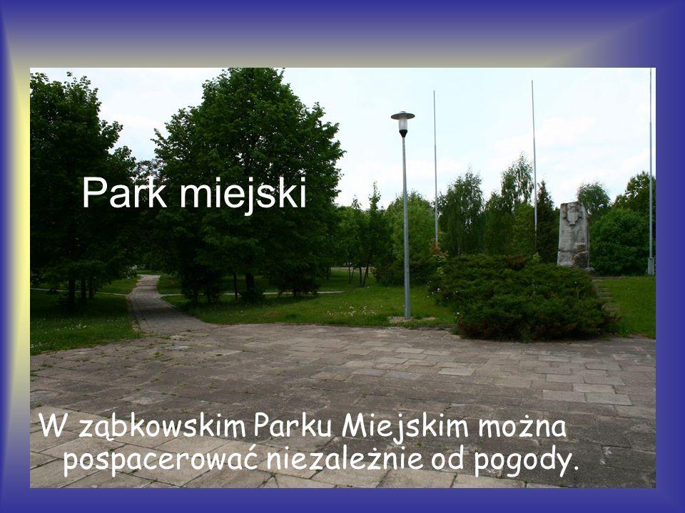 W ząbkowskim Parku Miejskim można pospacerować niezależnie od pogody. Park miejski