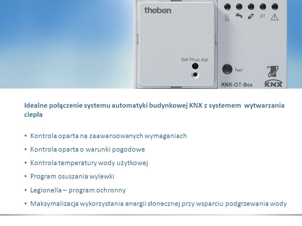 Idealne połączenie systemu automatyki budynkowej KNX z systemem wytwarzania ciepła Kontrola oparta na zaawansowanych wymaganiach Kontrola oparta o war