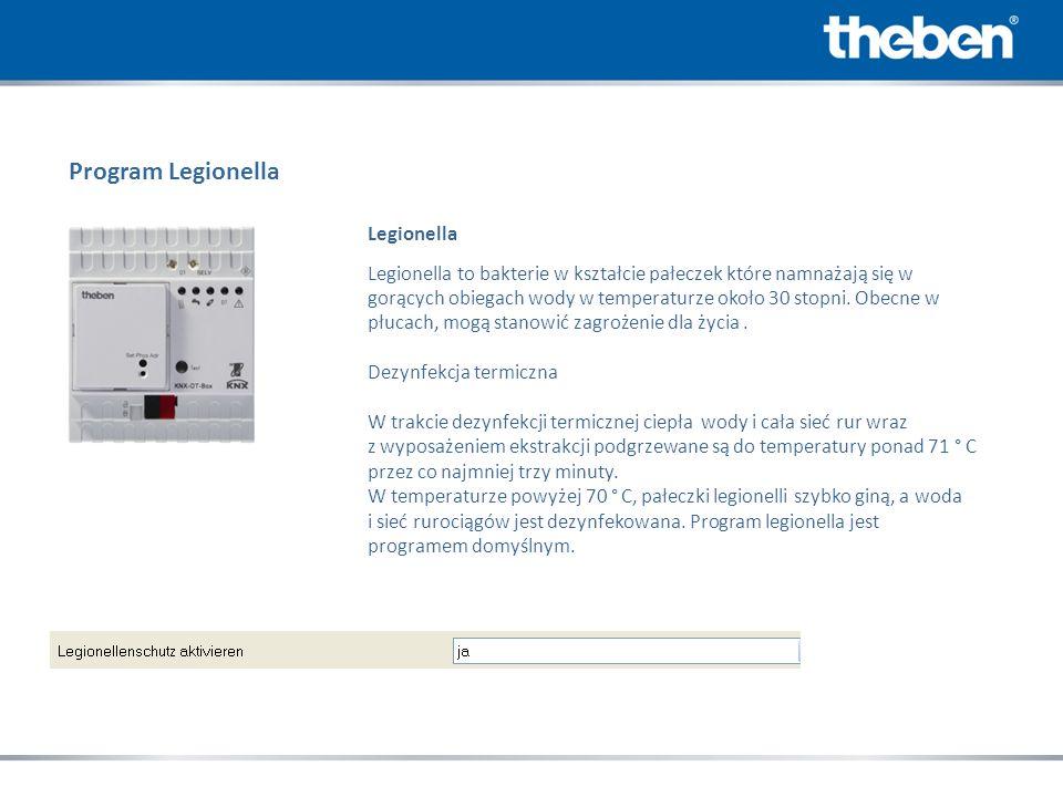 Program Legionella Legionella Legionella to bakterie w kształcie pałeczek które namnażają się w gorących obiegach wody w temperaturze około 30 stopni.