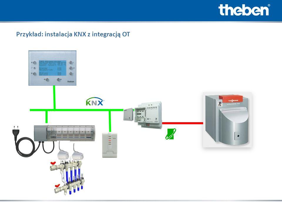 Przykład: instalacja KNX z integracją OT